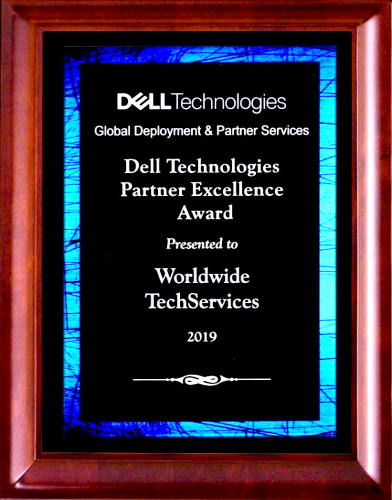 The Dell Technologies Services Global Deployment and Partner Services award for Partner Excellence